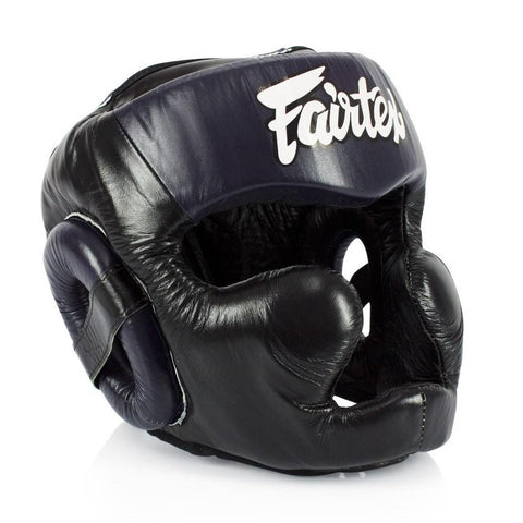 Fairtex canada HG13 Sparring Headgear Head Gear Black/Blue