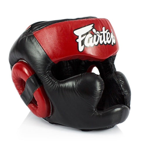 Fairtex HG13 canada Sparring Headgear Head Gear Black/Red