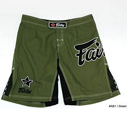 Fairtex MMA Fight Shorts AB1 Olive Marine Green Canada