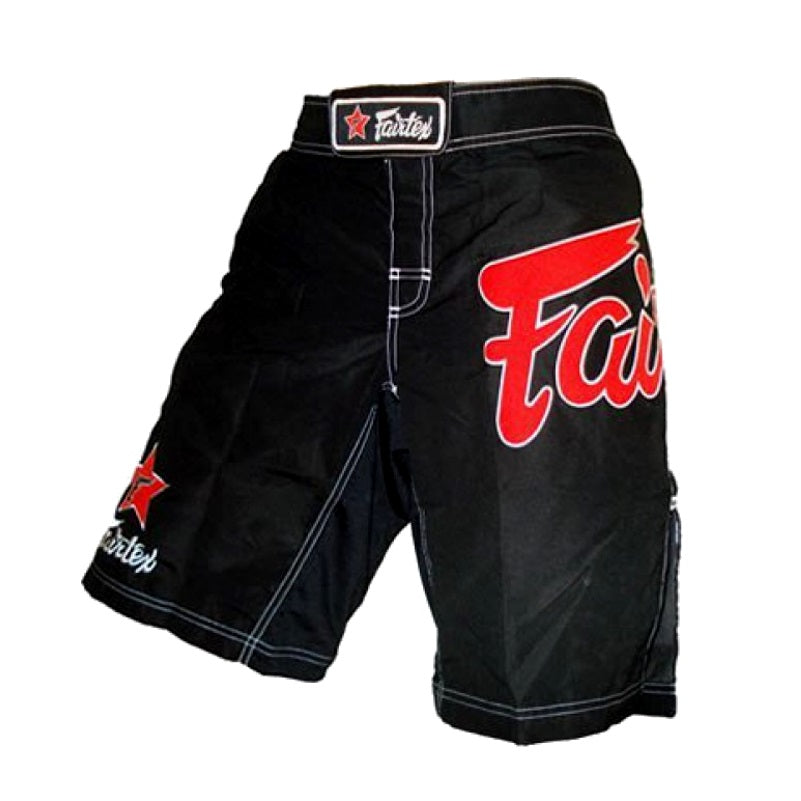 Fairtex MMA Fight Shorts AB1 Black/Red Canada