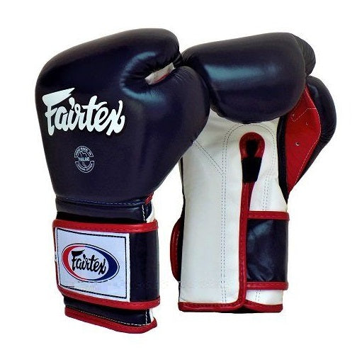 Fairtex Canada Pro Training Mexican Boxing Gloves BGV9 Blue/Red/White