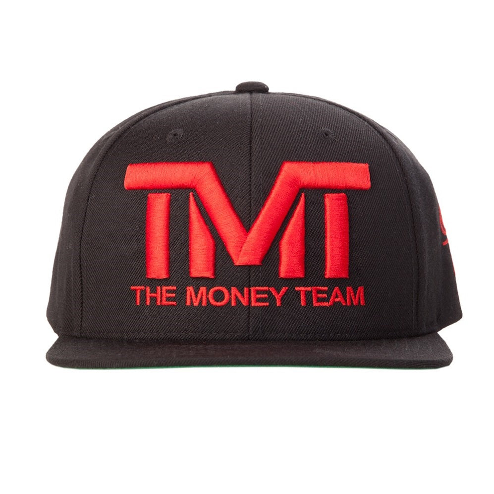 TMT The Money Team Courtside Black/Red Snapback Hat Cap