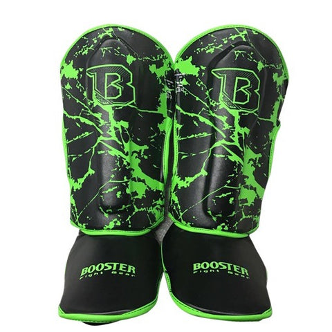 Booster Fight Gear Kids Youth Marble Green Shin Guards