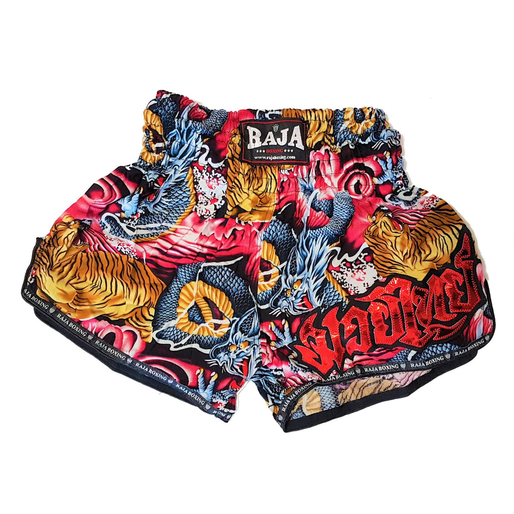 Raja Boxing Dragons vs Tigers Kids Muay Thai Shorts