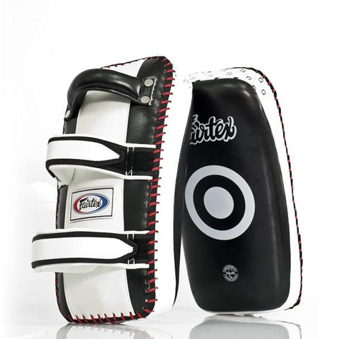 Fairtex KPLC2 Curved Super Contoured Thai Kick Pads Black/White