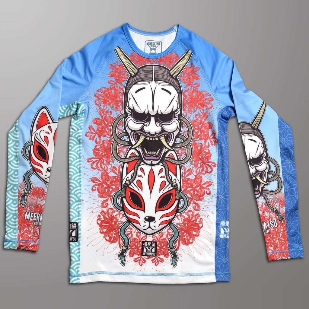 Meerkatsu Men's Demon Mask BJJ Rashguard Rash Guard CANADA