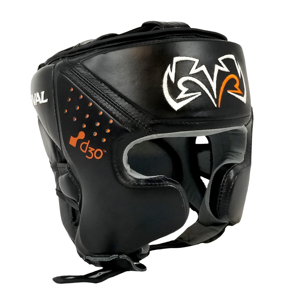 Rival Boxing Headgear Edmonton Head Guard Black  RHG10 Intelli-Shock