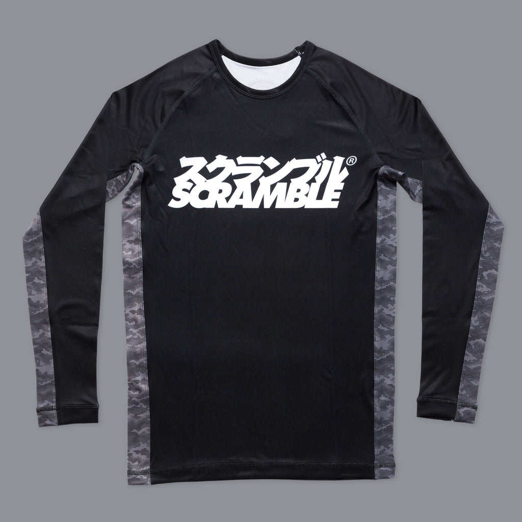 Scramble Kuro Camo Rashguard Rash Guard Compression Shirt