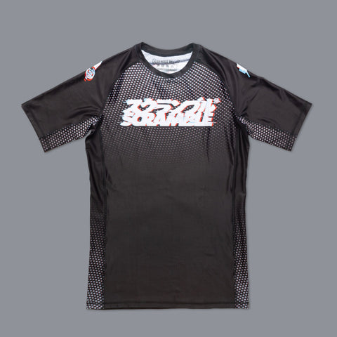 Scramble Brand canada Glitch Short Sleeve Rashguard Rash Guard Compression Shirt