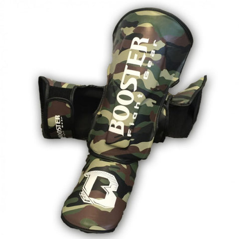 Booster Fight Gear Kids Youth Camo Shin Guards