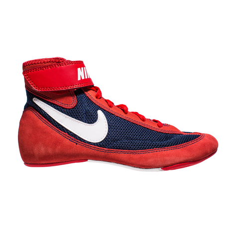 Nike Wrestling Speedsweep VII Shoes Boots Red/Navy/White (Sz 9 only left)