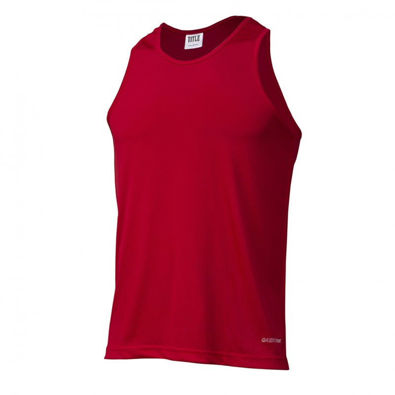 Title Boxing Aerovent Elite Boxing Competition Jersey Tank Red