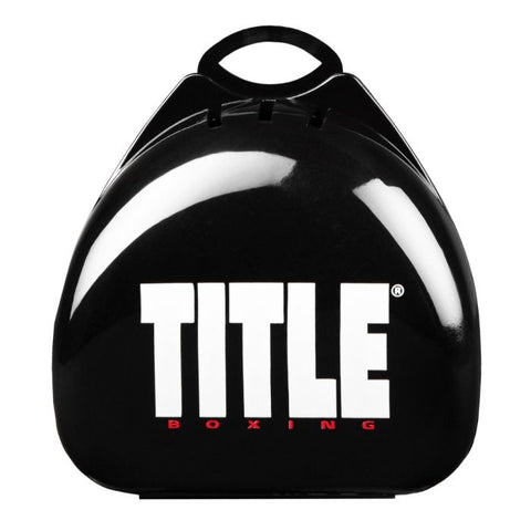 Title Boxing Deluxe Mouthguard Mouth Guard Case Black