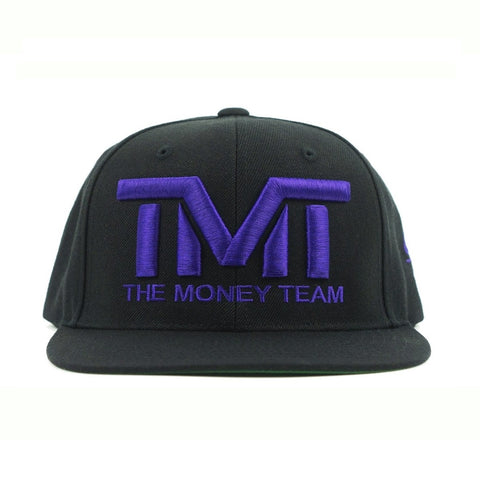 TMT The Money Team Courtside Black/Purple Snapback Hat Cap