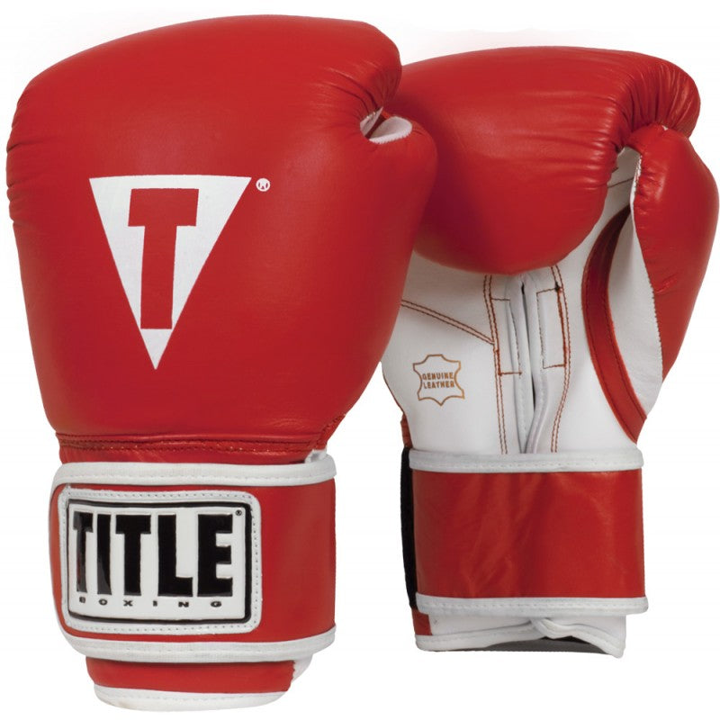 Title Boxing 3.0 Pro Style Leather Boxing Gloves Red
