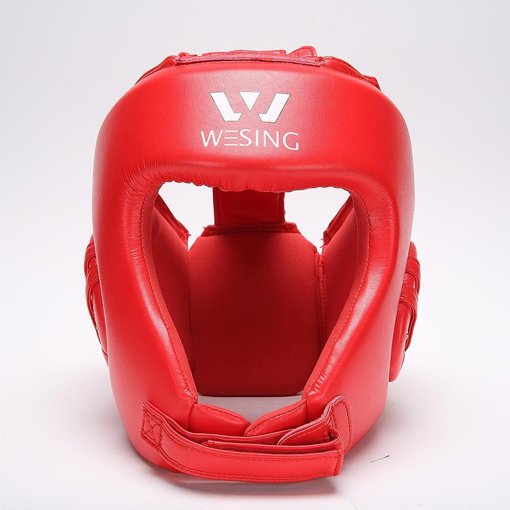 Wesing AIBA Boxing Competition Open Face Headgear Edmonton Head Gear Red