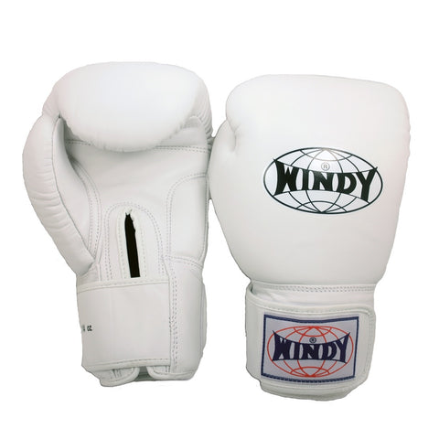 Windy Muay Thai Boxing Gloves White