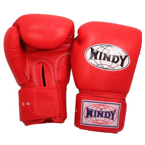 Windy Muay Thai Boxing Gloves Red
