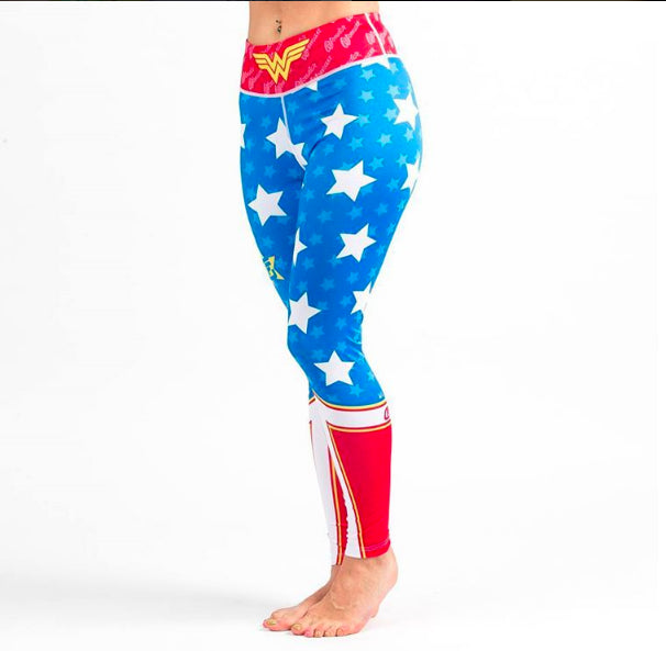 Fusion Fight Gear Wonder Woman Ladies Spats Compression Pants