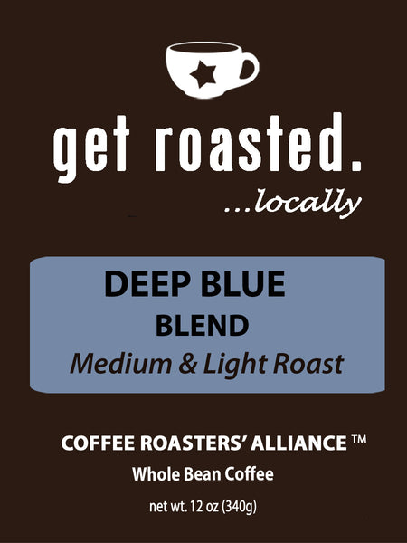 Deep Blue Blend Medium & Light Roast 12oz.