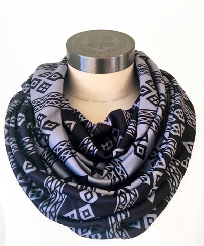 Grey on Black scarf