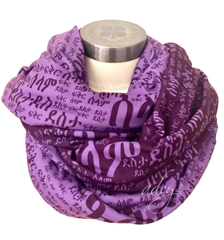 scarf Purple