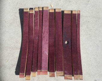 Wine barrel staves (set of 10)  Craft supplies / Barrel pieces / Napa wine barrels