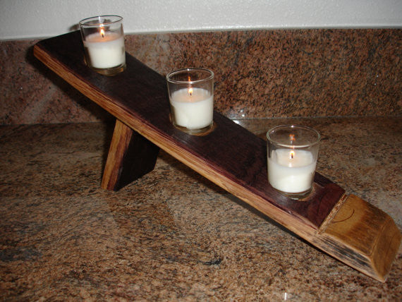 Wine Barrel Candle Holder