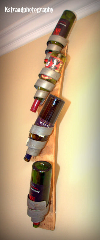 Curly Q Winebarrel Bottle Holder Free shipping