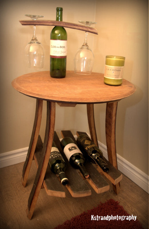 Napa Wine Barrel Side Table