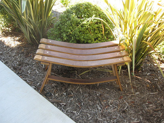 Wine Barrel Sweetheart Bench