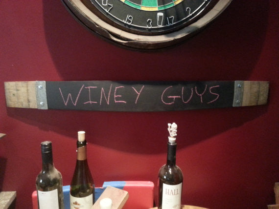 Wine Barrel Stave Chalk Board