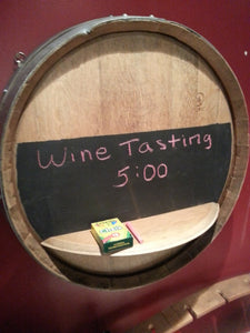 Wine Barrel Head Chalk Board