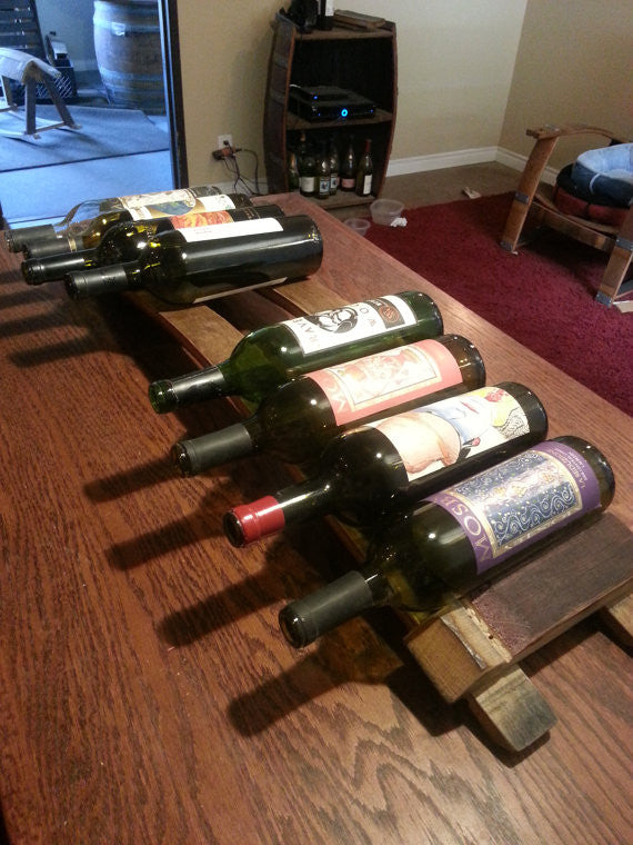 Table Top Wine Barrel Stave Wine Rack