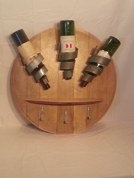 Wine Bottle display w/ Shelf & Hooks