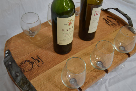 Wine Glass Serving Tray The Winey Guys