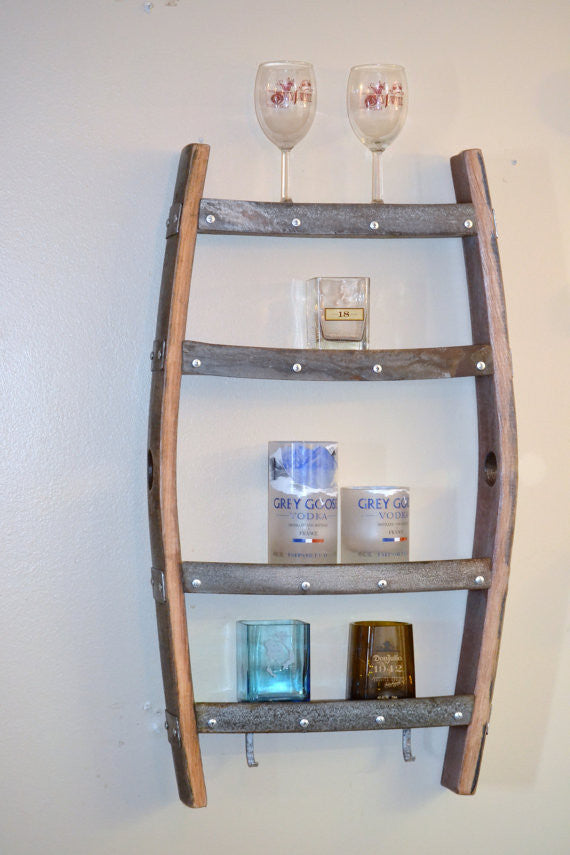 Wine Barrel Stave Spice Rack