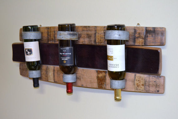Cynthia Adair Designed Wine barrel stave bottle holder