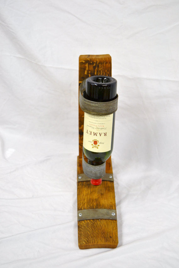 Single bottle Wine Barrel Stave Holder