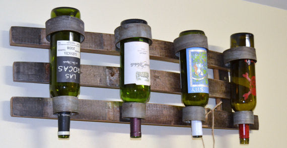 Triple Stave hanging Wine Bottle holder
