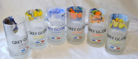 6 Grey Goose Tumbler drinking glasses