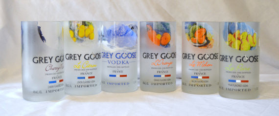 4 Grey Goose Tumbler drinking glasses