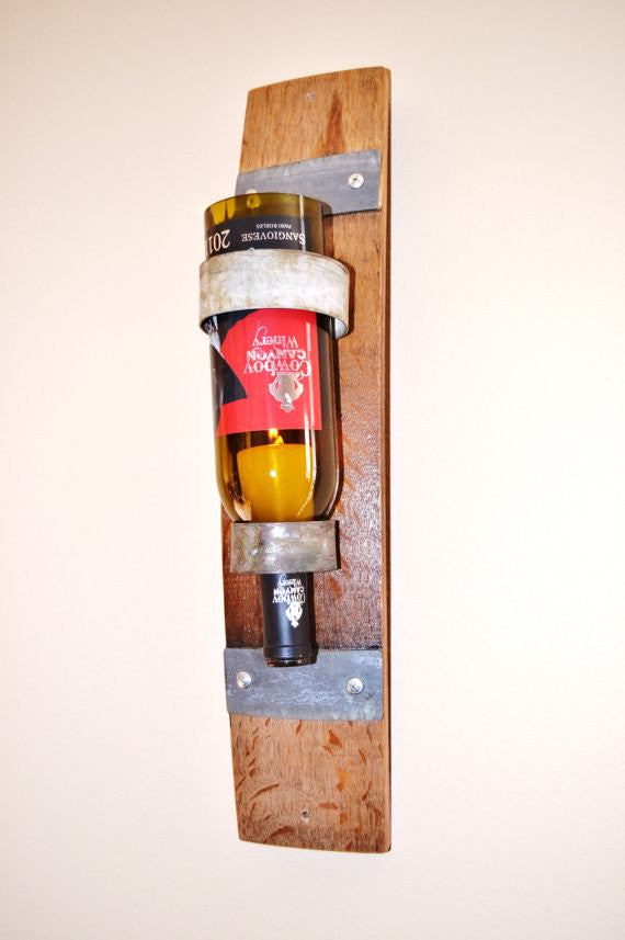 Wine Barrel Stave & Bottle Sconce