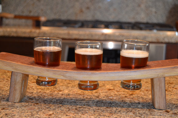 Wine Barrel Stave Beer Tasting Flight