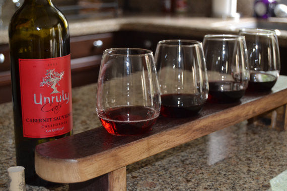 Barrel Stave Wine Tasting Flight