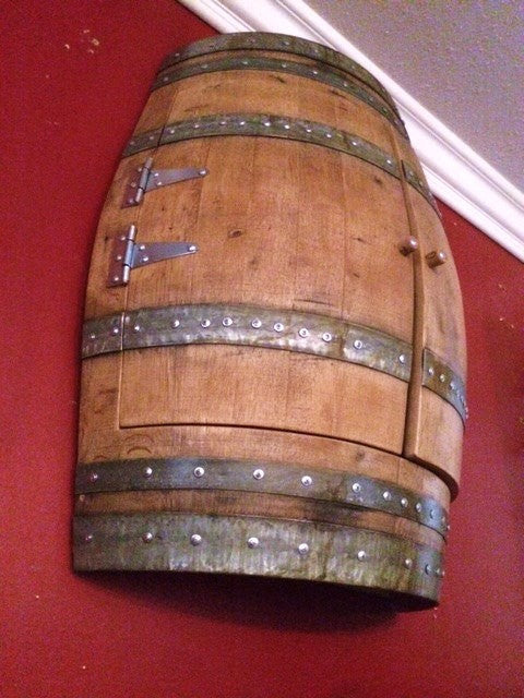 Wine Barrel Dartboard Cabinet The Winey Guys