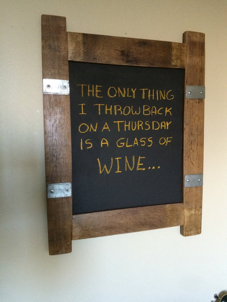 Wine Barrel Stave Chalkboard Sign