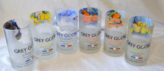 2 Grey Goose Tumbler Drinking Glasses