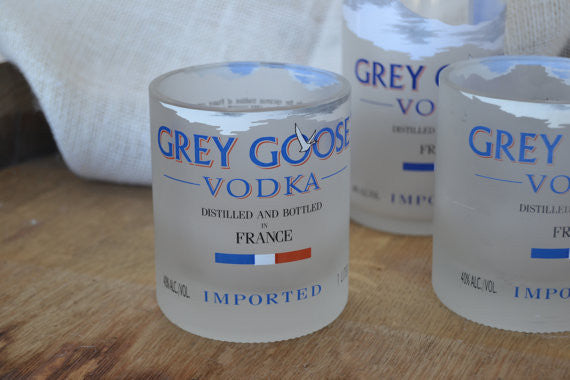 2 Grey Goose rocks glasses