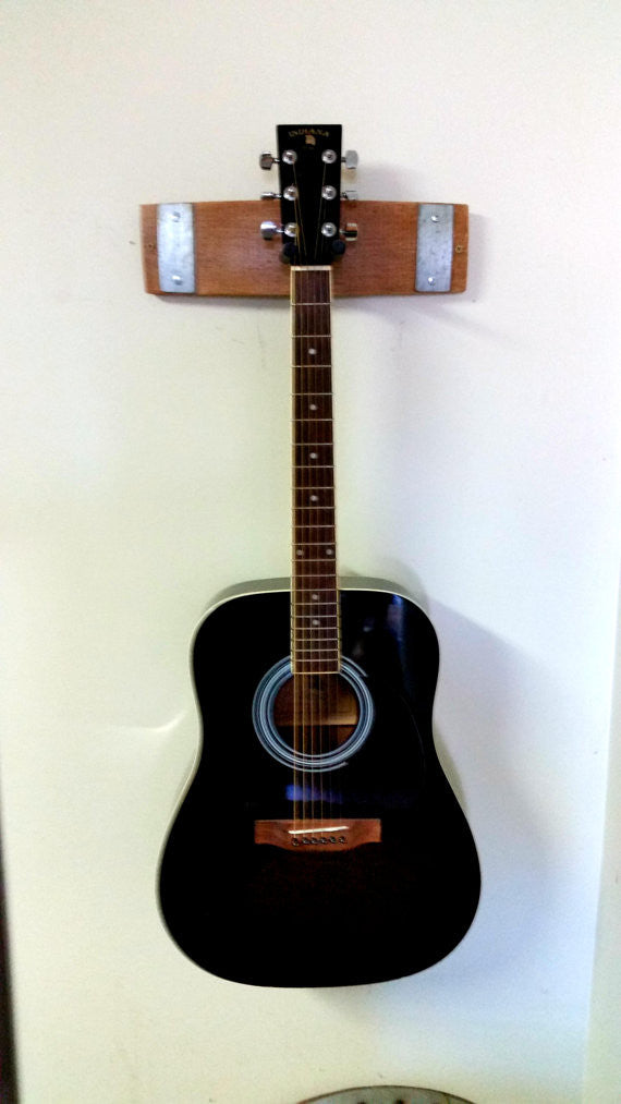 Wine Barrel Stave Guitar Rack